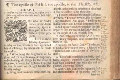KJB 1678 The epiftle of PAUL the apoftle, to the HEBREWS